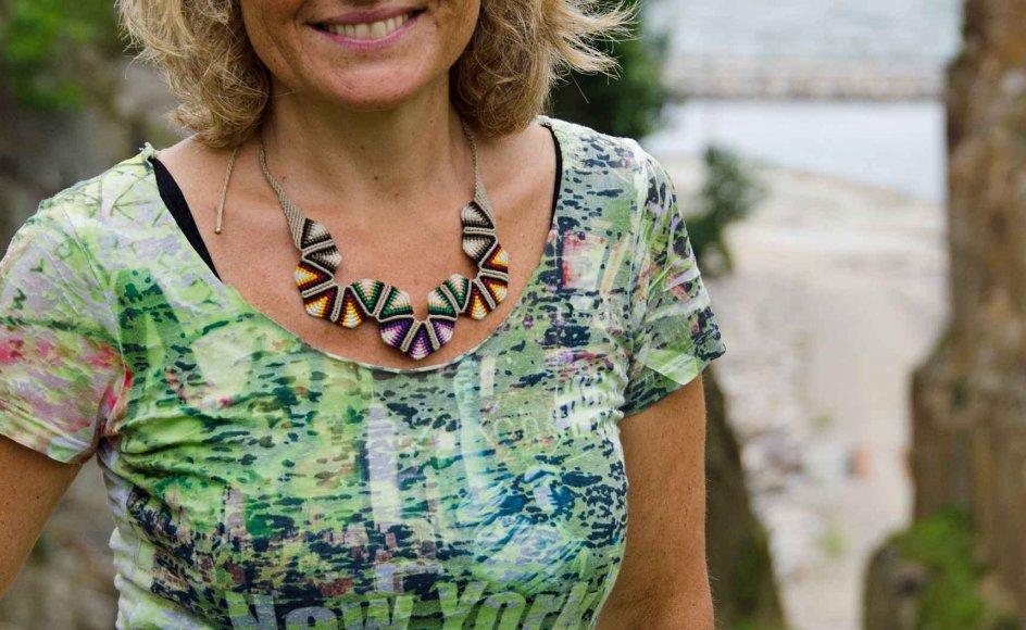 Nina Stork, der fylder 50 år i morgen, har sønnen Oskar som sin store inspirationskilde. –