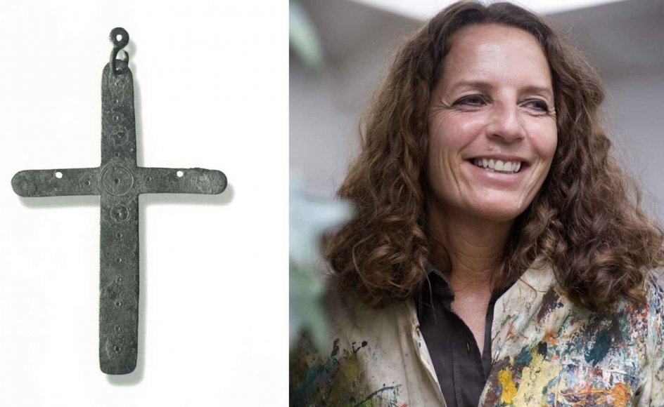 """""""Jeg kan bedst lide de rene kors uden symboler eller kristusfigurer på. De giver mig anledning til eftertanke,"""" siger Maja Lisa Engelhardt. På billedet ses det byzantiske kors, hun sætter stor pris på."""
