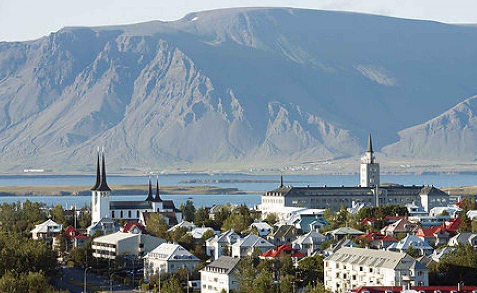 Udsigt over Islands hovedstad Reykjavik, hvor byggeriet af landets første moské begynder til sommer.