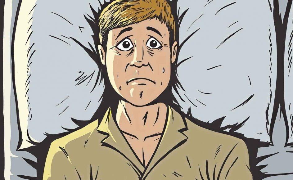 Vores søvnlængde har ikke ændret sig i mange år. Alligevel klager flere over søvnbesvær. Illustration: Iris/Scanpix