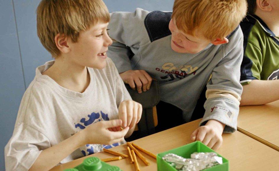 Undervejs i skoledagen skal madpakken spises, og så er det godt, hvis den har været opbevaret i køleskab. Arkiv
