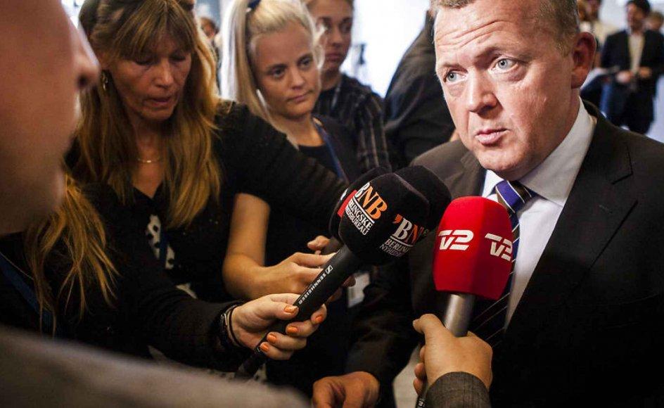 Venstres holdning til folkekirkens fremtidige styreform skulle have været afklaret på et gruppemøde i går formiddag, men ifølge Kristeligt Dagblads oplysninger var det ikke muligt, da hverken formand Lars Løkke Rasmussen (billedet) eller næstformand Kristian Jensen var til stede.