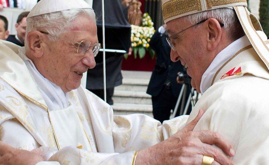 Meget har ændret sig, siden pave Frans for halvandet år siden afløste Benedikt XVI. De formelle forbindelser mellem islam og den katolske kirke er nu inde i en positive udvikling. Arkivfoto fra april 2014.
