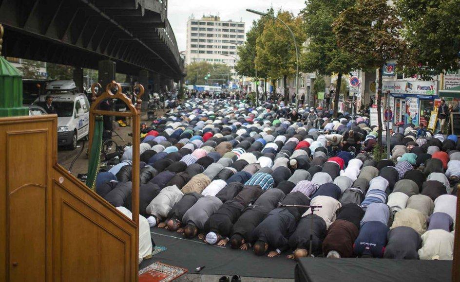 Berlin den 19. september 2014. I går demonstrerede flere tusinde muslimer i Tyskland imod den ekstremistiske gruppe Islamisk Stat.