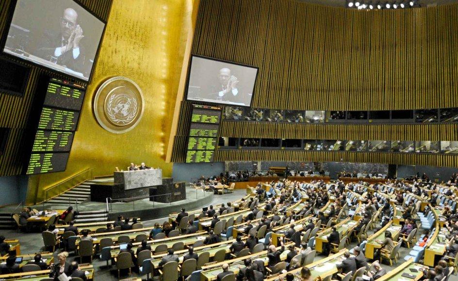 Årets generalforsamling i FN begyndte den 16. september. -