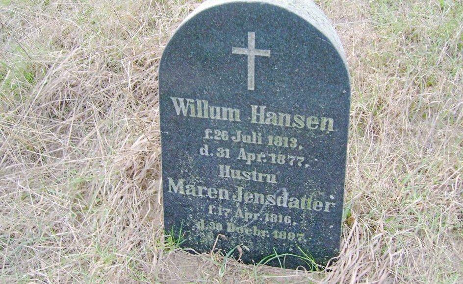 Find én fejl på denne gravsten. Et lille fif er at se på dødsdatoen for den hedengangne Willum Hansen. Foto: Karl Maksten