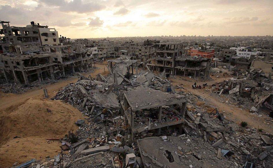 Billede fra Gaza. Foto: Scanpix