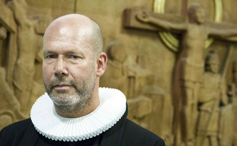 Sognepræst Ulrich Vogel tror ikke, han ville have turde rejse debatten om Tingbjerg, hvis han ikke var på vej væk fra området. Arkivfoto.