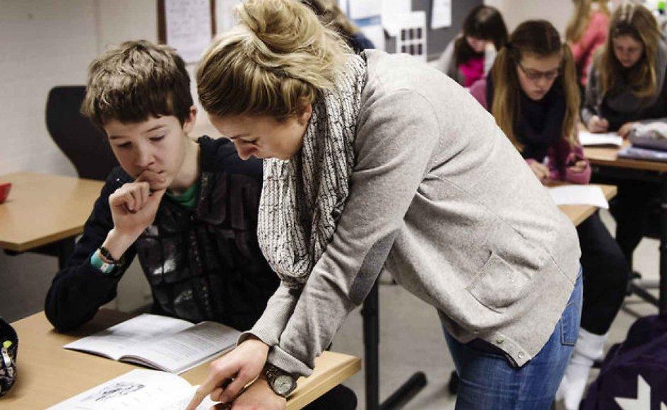 Kan en akademiker varetage en uddannet skolelærers arbejde? Det mener Danmarks Lærerforening ikke. Arkivfoto.