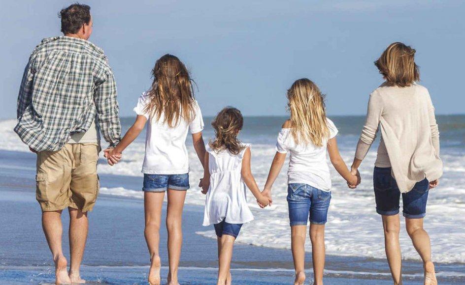 For 68 procent af danskerne har familien størst betydning. Modelfoto.