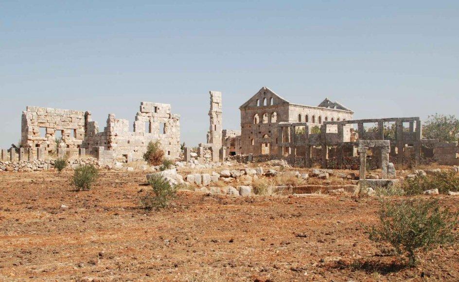 """De såkaldte """"døde byer"""" i det nordlige Syrien dækker over op mod 700 forladte bosættelser, som blev bygget mellem det 1. og det 7. århundrede og forladt mellem det 8. og det 10. århundrede. Bygningerne fortæller en historie om en rig bondecivilisation i det byzantiske rige, og rigt udsmykkede kirker prægede området. UNESCO melder, at flere af byerne er blevet plyndret, at høje strukturer er blevet væltet, og at der i de ældgamle ruiner nu bor internt fordrevne."""