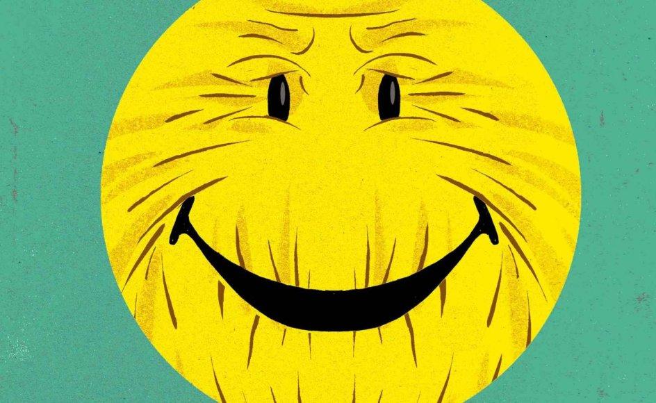 Ifølge en undersøgelse holder ældre optimister sig længere i live. Samtidig bor færre af dem på plejehjem, de bruger mindre medicin, er mere funktionelle, har færre sygdomme og et bedre syn end deres mere pessimistiske jævnaldrende. Tegning: Morten Voigt.