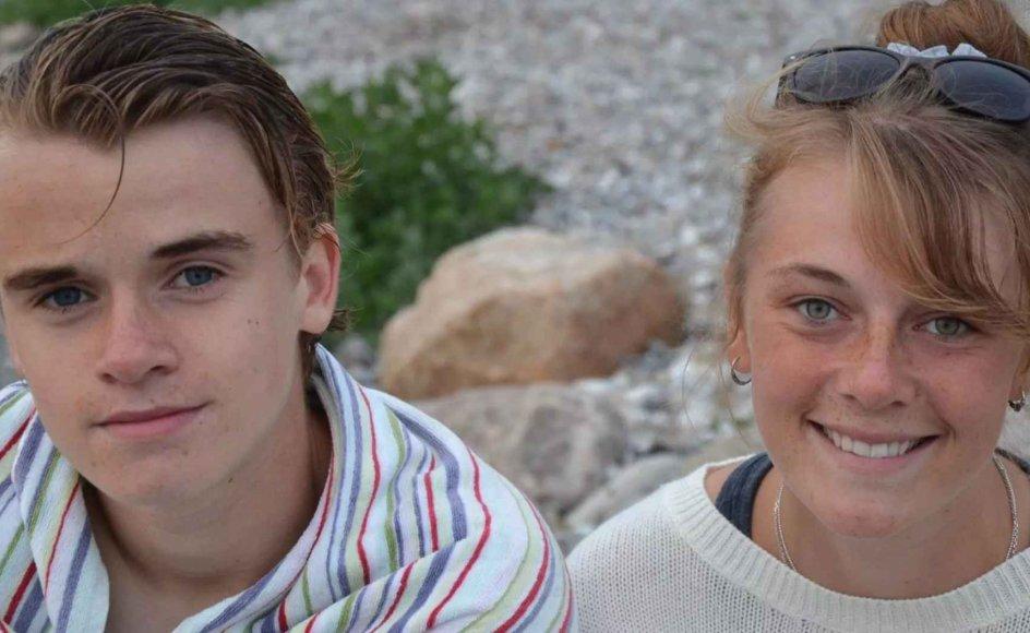 Pernille og Jonas Øster i sommeren 2014 i sommerhus på Samsø, hvor hele familien er fra.