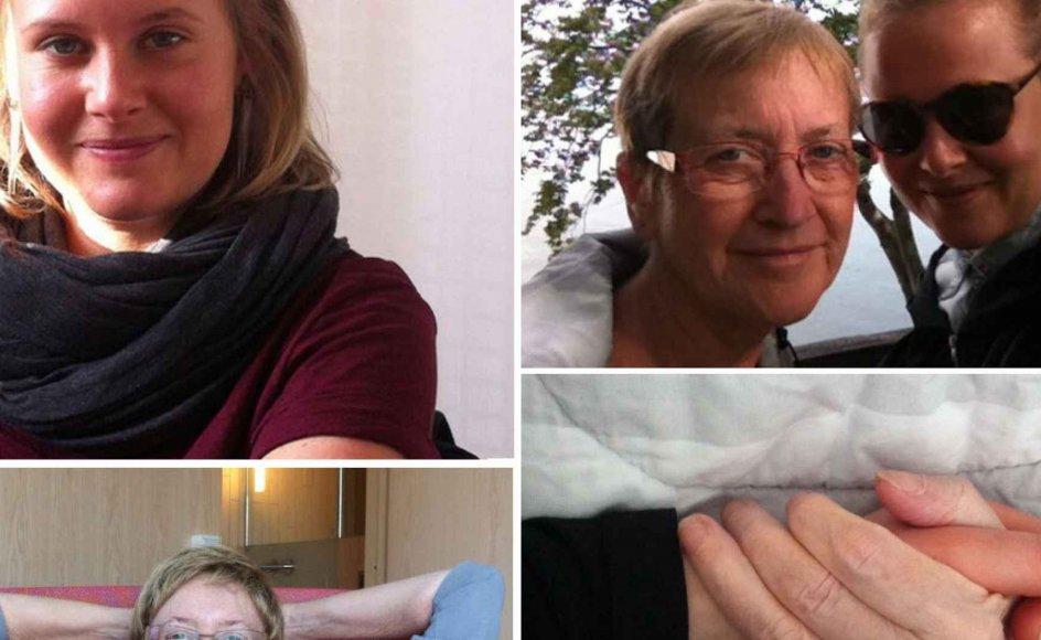 Stine Buje og hendes mor fik meget ud af deres sidste tid sammen. Det gjorde de ved at bruge forskellige teknikker, som kunne udvikle deres nærhed i sorgens stund. Alle billederne ovenover er venligst udlånt af Stine Buje.