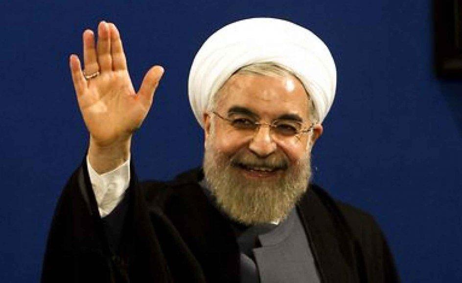 Irans præsident Hassan Rouhani har grund til at være glad. Efter at have været dømt ude af Vesten siden den islamiske revolution i 1979 bliver Iran nu en vigtig strategisk partner.