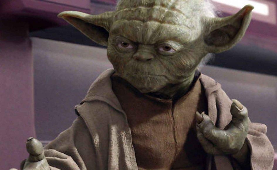 """Tror vores videnskabsminister på """"kraften"""" fra Star Wars-universet, er det fint med dagens debattør. Her ses Yoda - den berømte karakter fra Star Wars-filmene. Han taler med en besynderlig omvendt grammatik og regnes for at være den største af alle jedier - altså før Anakin Skywalker ser dagens lys."""