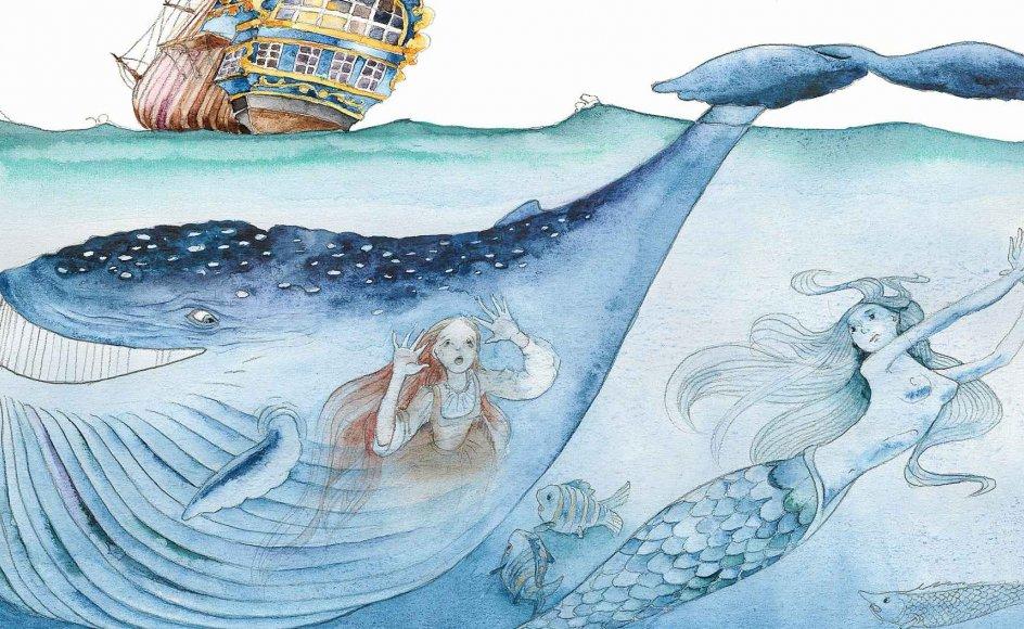 Havet kalder på fantasien, som her på den estiske illustrator Anneliis Aunapuus havfruemotiv, som man kan se ombord på kunstskibet.
