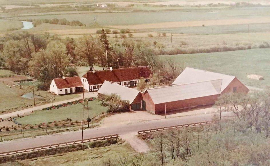 Luftfoto af den gamle præstegård i Sdr. Felding. Privatfoto.