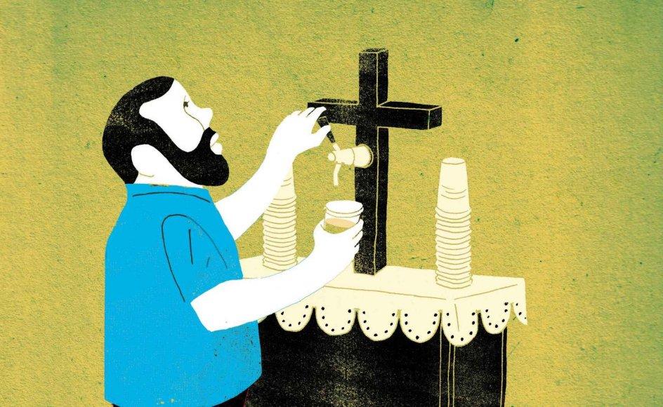 Mænd er i undertal på alle religiøse parametre, så derfor giver det god mening at tænke i aktiviteter, som de synes, er interessante, hvis man vil have flere mænd i kirke, siger religionsforsker. En idé, som allerede er afprøvet med succes var servering af øl efter gudstjenesten.