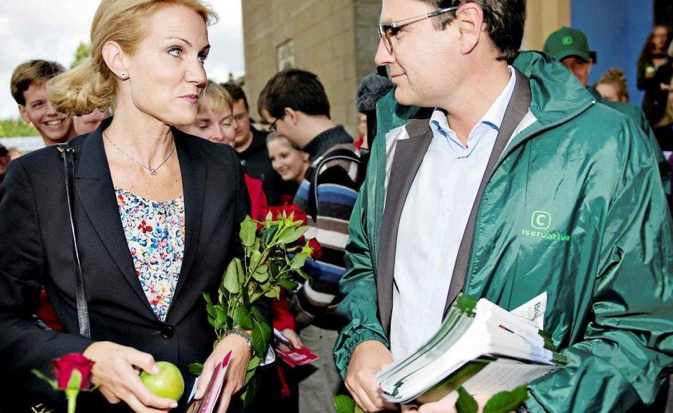 Helle Thorning Schmidt (S) og Brian Mikkelsen (K) kommer begge fra statskundskabsstudiet i København. De to er i dag en del af magteliten.