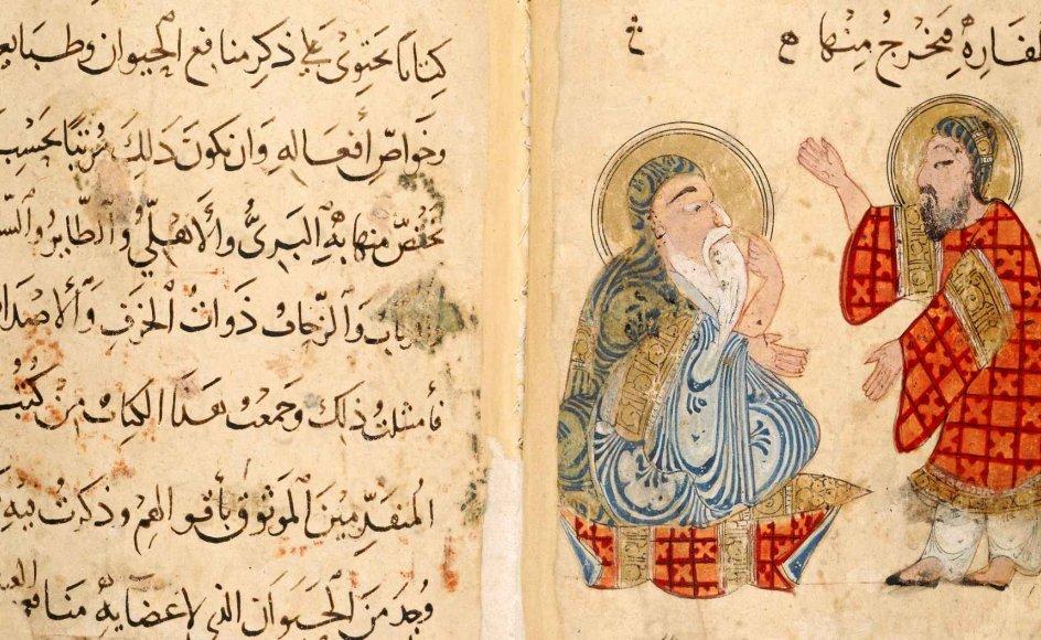 Den kristne videnskabsmand Ibn Bakhtishu er i gang med at forklare sig til den muslimske emir Saladin.