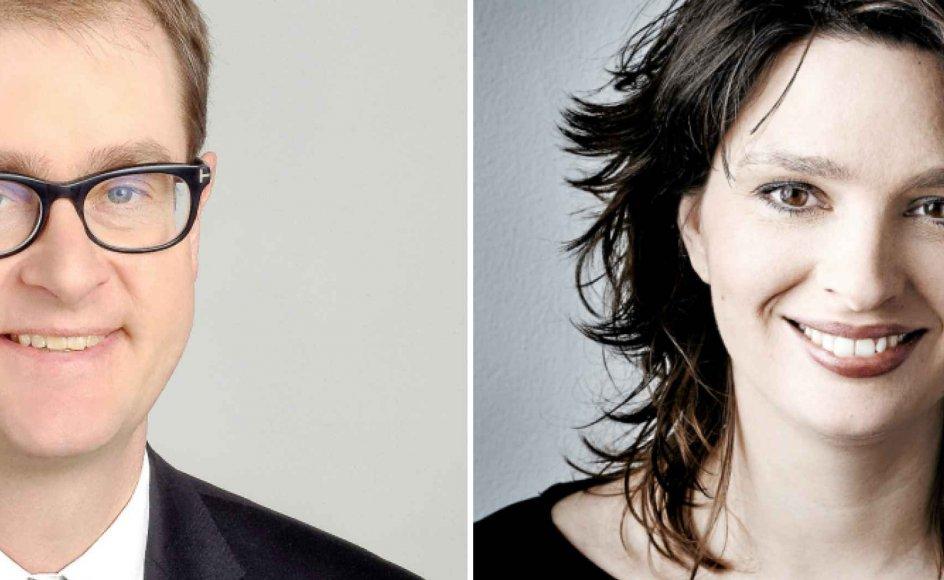 Mads Lundby Hansen er cheføkonom i den borgerlige tænketank CEPOS. Majbrit Berlau er formand for Dansk Socialrådgiverforening.
