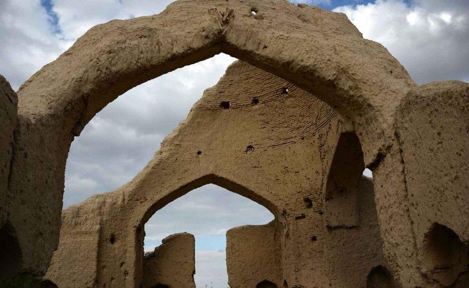 Ruinerne af digteren Rumis hus i Khowaja Gholak distriktet i Afghanistan.