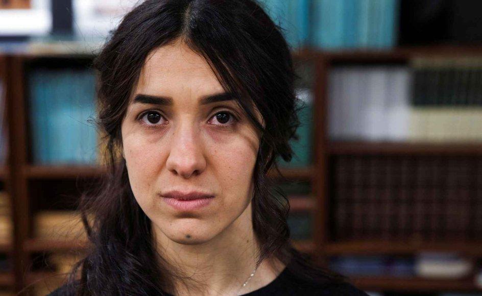 Nadia Murad Basee Taha var tre måneder sexslave hos Islamisk Stat, før det lykkedes hende at flygte. I dag har hun vundet Nobels Fredspris for sin kamp mod anvendelsen af seksualiseret vold som våben i krig og væbnede konflikter.