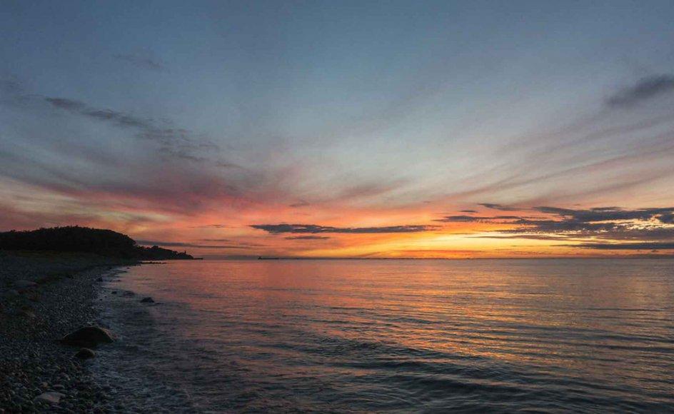 Solnedgang på Røsnæs.