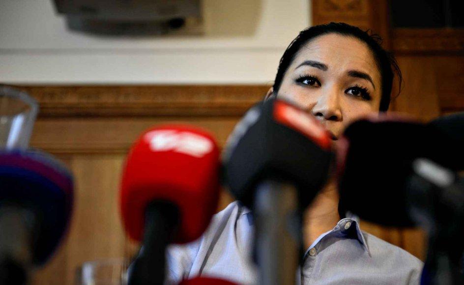 Anna Mee Allerslev (R) trak sig i går på et velbesøgt pressemøde på Københavns Rådhus fra politik. –
