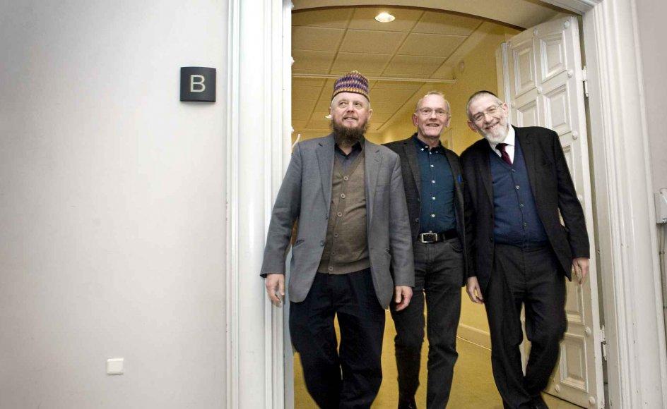 """""""En rabbiner, en imam og en præst kommer ind i et rum"""", hed et dialogmøde i Indre Missions lokaler i Bethesda i København. –"""