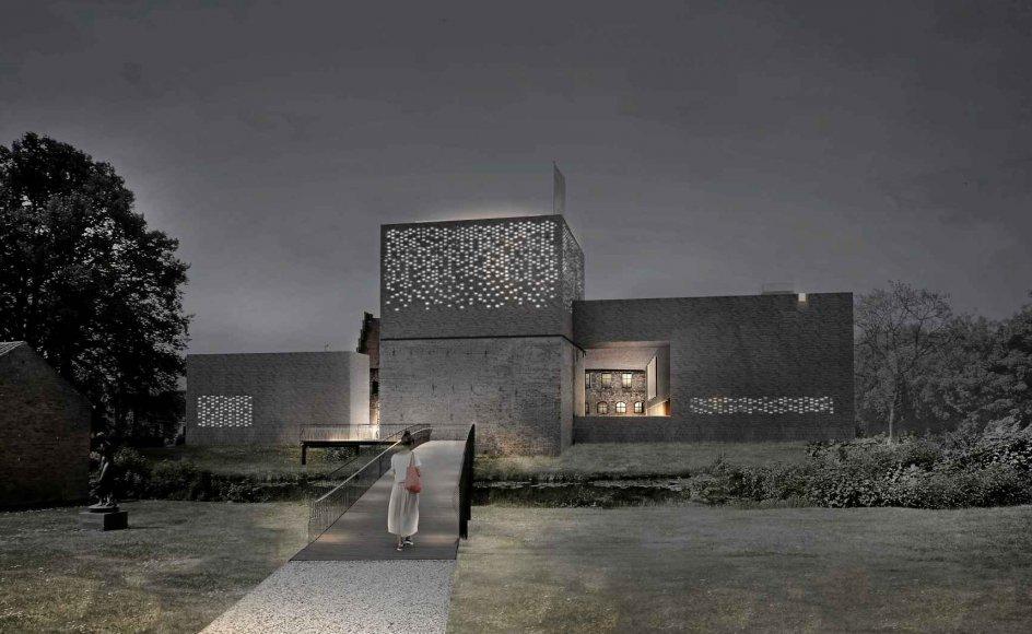Sådan kommer det nye Nyborg Slot ifølge tegningerne fra arkitektfirmaet Cubo til at se ud. –