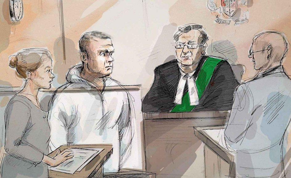 Mange spekulerer i, at den 25-årige Alek Minassian (nummer to fra venstre på tegningen fra et retsmøde) var drevet af et ønske om at tage hævn over kvindekønnet, da han den 23. april brugte en hvid varevogn til at slå 10 mennesker ihjel i Toronto. Otte af de dræbte var kvinder. –