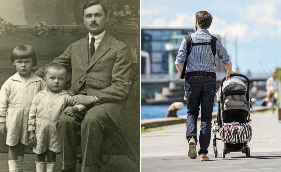 """""""Far"""" er stadig under udvikling, og det har han sådan set været siden patriarkens tid. Familieforskere og psykologer er enige om, at fars bevægelse fra patriark til moderne far er en fordel for både familielivet, børns trivsel og fædres egen livskvalitet."""