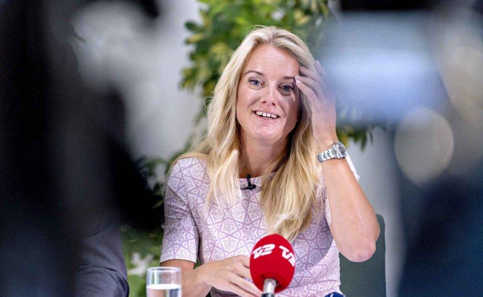 Partiformand Pernille Vermund har grund til at smile. Hendes parti har stået stærkt i de seneste meningsmålinger.