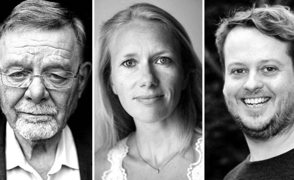 Fra venstre: Kjeld Holm, Marie Høgh og Simon Axø.