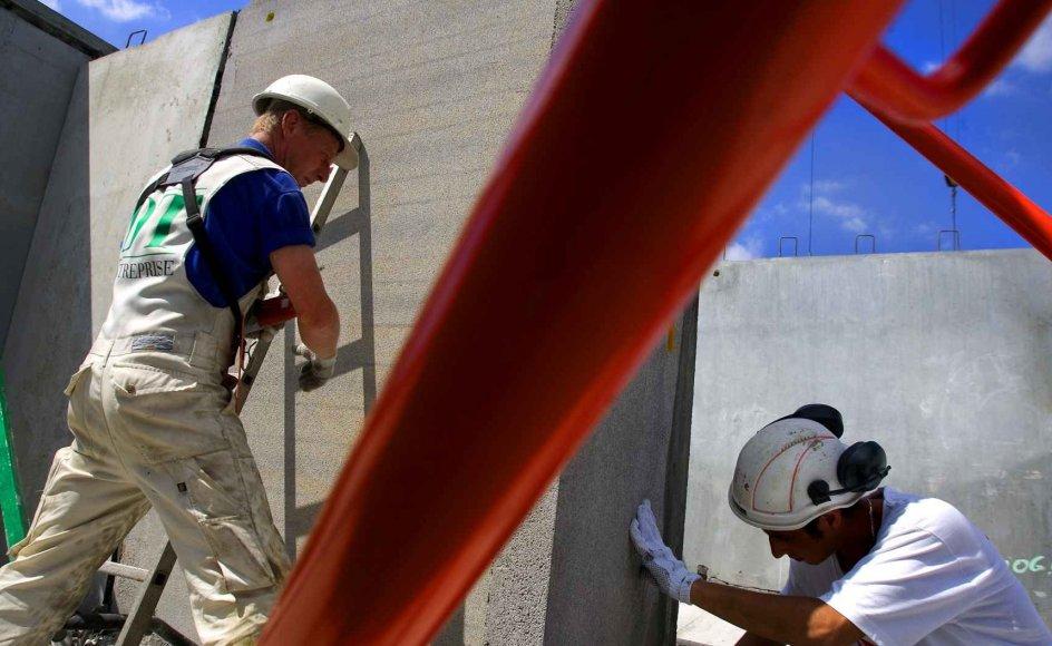 Byggeriet er en af de mange sektorer, der har det godt i dansk økonomi. Samlet set voksede dansk økonomi med 0,7 procent i tredje kvartal i år, viser nationalregnskabet fra Danmarks Statistik.