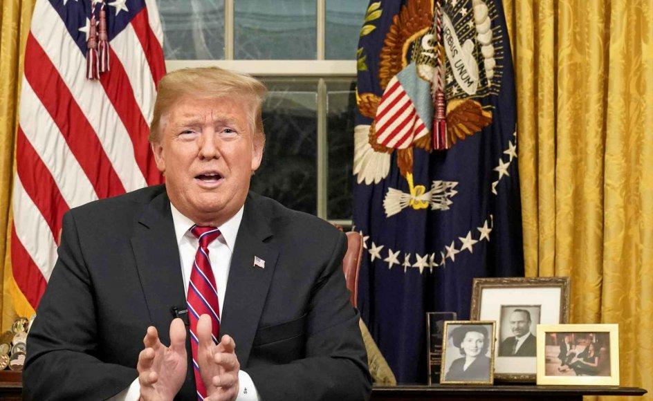 USA's præsident, Donald Trump, holdt natten til onsdag dansk tid en tale til nationen. –