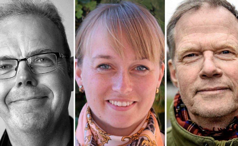 Fra venstre: Jesper Bacher, Anni Albæk og Henrik Højlund.