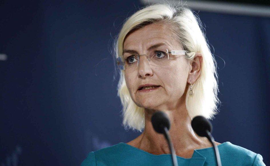 """""""For at hjælpe dem, der føler sig som minoriteter, er vi nødt til at bruge den betegnelse,"""" sagde udviklingsminister Ulla Tørnæs (V) om brugen af begrebet minoritet."""