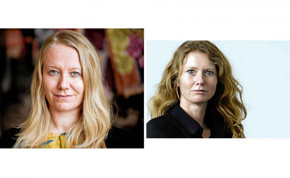 Helle Jacobsen (tv.) og Lene Sigvardt (th.).