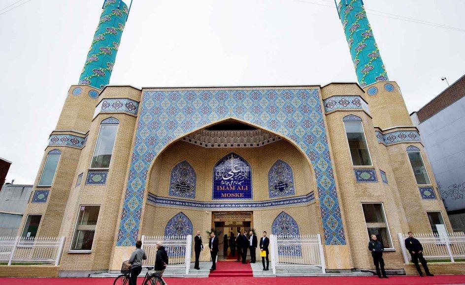 Imam Ali-moskéen i Københavns Nordvestkvarter er bygget ved hjælp af donationer fra private aktører i Iran.