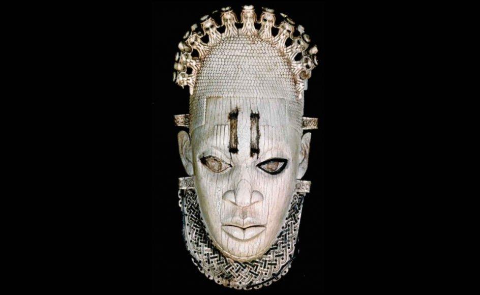 Maske fra 1600-tallet. Den er fra Guinea og er en del af samlingen hos British Museum.