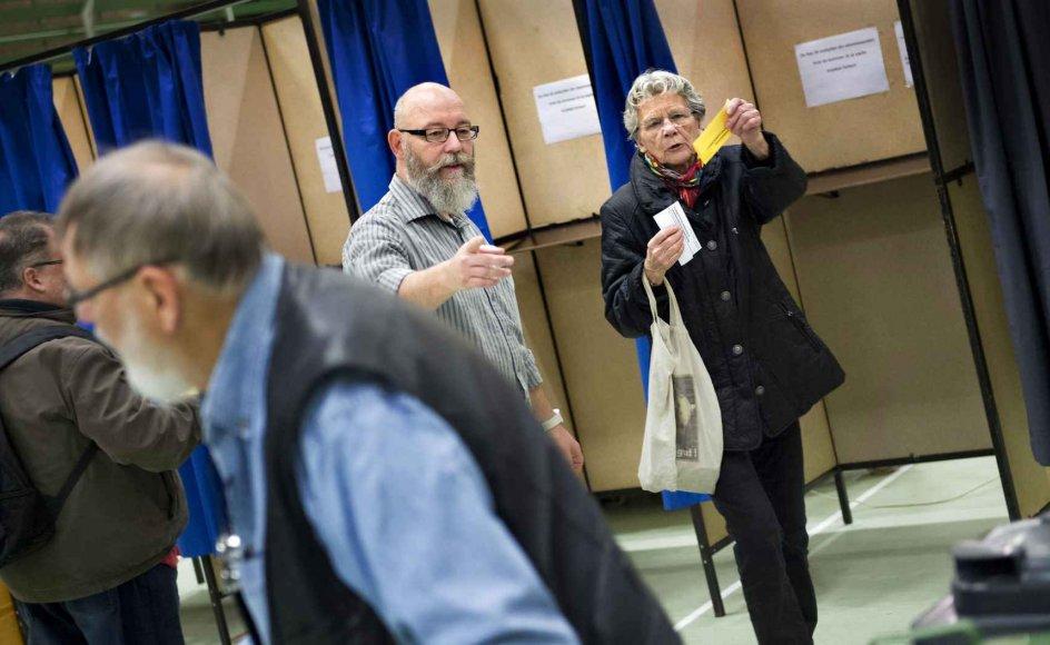 Vælgerundersøgelser har vist, at de ældre vælgere særligt kigger mod Socialdemokratiet, Dansk Folkeparti og Venstre, når de skal i stemmeboksen. Arkivfoto.