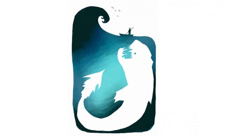 """""""Både i Bibelen og i antikkens kilder er der et udpræget forbehold over for havet. Mennesket ikke er sat i verden for at tage på farefulde sørejser. Horats siger, at grænsen mellem land og vand er naturlig og guddommelig. Det er ikke meningen, at mennesket skal krydse den. Det er faktisk at forbryde sig imod guderne, hvis man gør det,"""" siger Søren Frank, der forsker i maritim litteratur. Illustration: Simone Nilsson"""