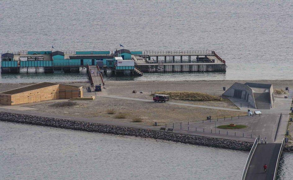 Lars Simonsen har brugt det seneste år på at svømme rundt om Danmark. Tirsdag ankommer han til Helgoland Badeanstalt. (Arkivfoto)