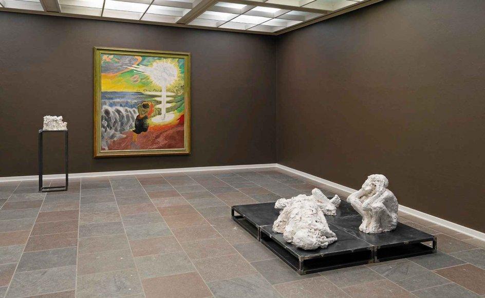 Generelt svinger de to kunstnere J.F. Willumsen og Jørgen Haugen Sørensen trods 71 års aldersforskel overraskende godt sammen.