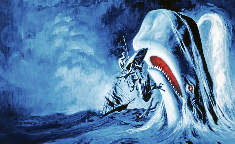 """Billede fra filmen """"Moby Dick"""" fra 1956, der blev instrueret af John Huston."""