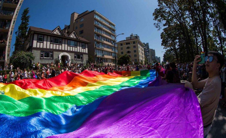 Billede fra Vancouver Pride Parade den 4. august i år.