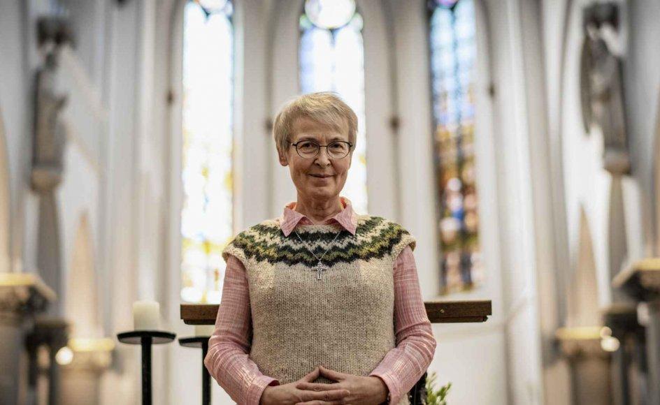 Angela Rammé blev Skt. Joseph Søster i 1981 og har virket både i Tyskland, Tjekkiet og Danmark – de seneste seks år i Aarhus. Søndag tog hun og dermed Skt. Joseph Søstrene afsked med Aarhus. –
